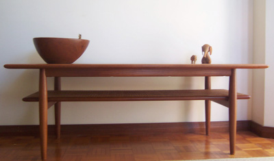 Parker Rattan Shelf Coffee Table